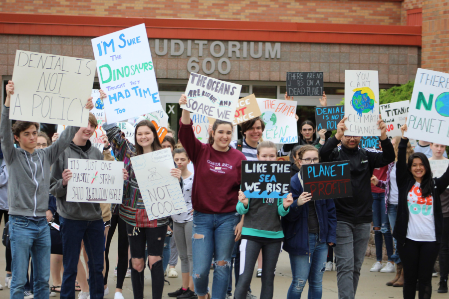 Olathe North students protest climate change